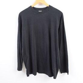 ベネトン UNITED COLORS OF BENETTON ワンポイント ロングTシャツ ロンT イタリア製 メンズL /wbi1797 【中古】 【190928】