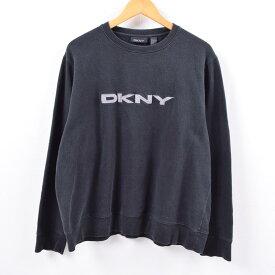 ダナキャランニューヨーク DKNY ロゴスウェット トレーナー メンズL /wbi5542 【中古】 【190930】