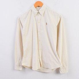 ラルフローレン Ralph Lauren オックスフォード 長袖 ボタンダウンストライプシャツ 2 レディースXS /wbi1531 【中古】 【191004】