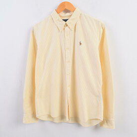 ラルフローレン Ralph Lauren 長袖 ボタンダウンストライプシャツ 14 レディースS /wbi1536 【中古】 【191004】