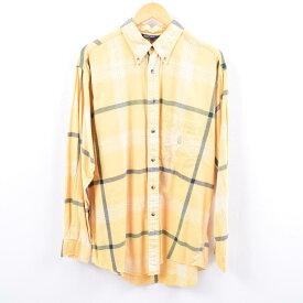 90年代 ノーティカ NAUTICA 長袖 ボタンダウンチェックシャツ メンズL /wbi4748 【中古】 【191005】