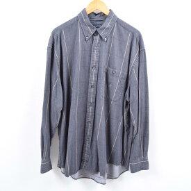 ノーティカ NAUTICA 長袖 ボタンダウンチェックシャツ メンズL /wbi6151 【中古】 【191005】