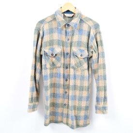 80年代 エルエルビーン L.L.Bean チェック柄 ウールシャツ メンズM ヴィンテージ /wbi4204 【中古】 【191012】