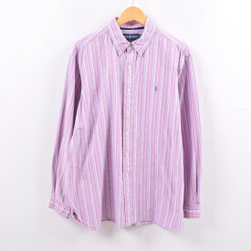 ラルフローレン Ralph Lauren 長袖 ボタンダウンストライプシャツ メンズXL /wbh5223 【中古】 【191013】