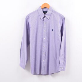 ラルフローレン Ralph Lauren 長袖 ボタンダウンチェックシャツ メンズM /wbh6254 【中古】 【191013】