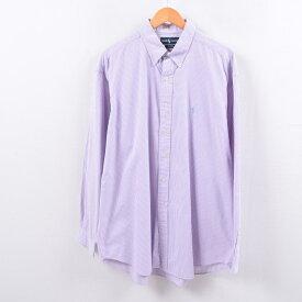 ラルフローレン Ralph Lauren ギンガムチェック 長袖 ボタンダウンチェックシャツ メンズXL /wbh6276 【中古】 【191013】
