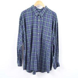 ノーティカ NAUTICA 長袖 ボタンダウンチェックシャツ 2XL /wbi2180 【中古】 【191014】