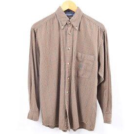 ノーティカ NAUTICA チェック柄 長袖 ボタンダウン ライトネルシャツ メンズS /wbi2350 【中古】 【191014】