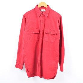 70年代 エルエルビーン L.L.Bean 筆記体タグ 長袖 シャモアクロスシャツ メンズM ヴィンテージ /wbi2833 【中古】 【191014】