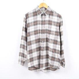 90年代 エルエルビーン L.L.Bean チェック柄 長袖 ライトネルシャツ USA製 メンズM /wbi2364 【中古】 【191014】