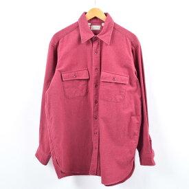 90年代 エルエルビーン L.L.Bean 長袖 シャモアクロスシャツ USA製 メンズL /wbi2846 【中古】 【191014】