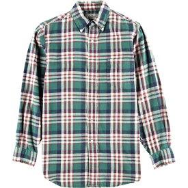 90年代 エルエルビーン L.L.Bean チェック柄 長袖 ボタンダウン ライトネルシャツ メンズS /wbi2242 【中古】 【191017】