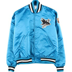 90年代 スターター Starter NHL SAN JOSE SHARKS サンノゼシャークス ナイロンスタジャン アワードジャケット USA製 メンズM /wbk0396 【中古】 【191018】