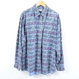 エルエルビーン L.L.Bean 長袖 総柄シャモアクロスシャツ USA製 メンズXL ヴィンテージ /wbh6019 【中古】 【191019】