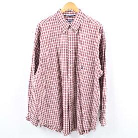90年代 ノーティカ NAUTICA 長袖 ボタンダウンチェックシャツ USA製 メンズXL /wbi0304 【中古】 【191019】