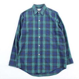 80年代 エルエルビーン L.L.Bean 長袖 コットンチェックシャツ USA製 メンズM ヴィンテージ /wbi2352 【中古】 【191024】