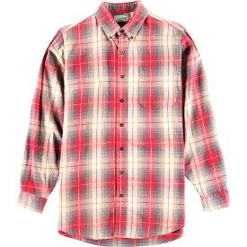 90年代 エルエルビーン L.L.Bean 長袖 ボタンダウンチェックシャツ USA製 メンズM /wbk2213 【中古】 【191020】