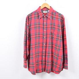 エルエルビーン L.L.Bean タータンチェック 長袖 ライトネルシャツ メンズL /wbk2161 【中古】 【191021】