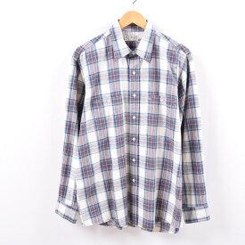 80年代 エルエルビーン L.L.Bean 長袖 コットンチェックシャツ USA製 メンズL ヴィンテージ /wbk2162 【中古】 【191021】