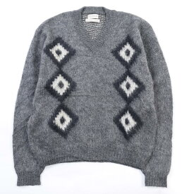 MONTAIGNE Vネックウールニットセーター