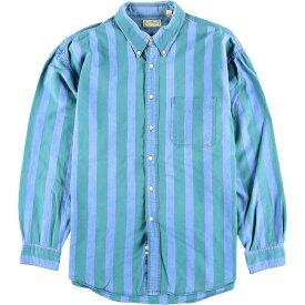 90年代 エルエルビーン L.L.Bean 長袖 ボタンダウンストライプシャツ メンズXL /wbk6360 【中古】 【191028】