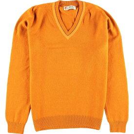 50s PRINGLE Vネック ウールニットセーター
