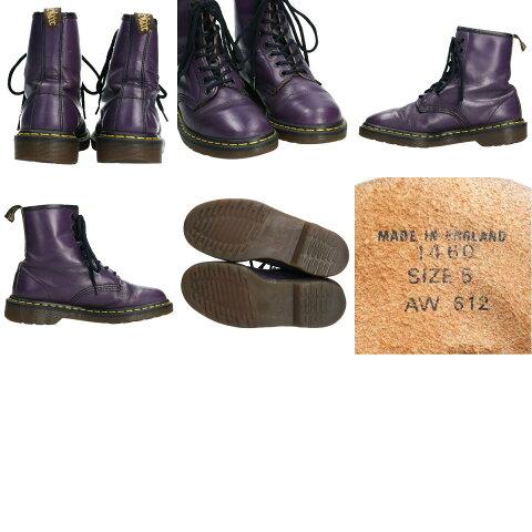 ドクターマーチンDr.Martens8ホールブーツ英国製UK5レディース23.5cm/boo9712【中古】【191104】