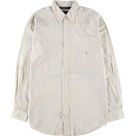 90年代 ノーティカ NAUTICA 長袖 ボタンダウンストライプシャツ メンズL /wbk3247 【中古】 【191109】
