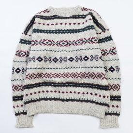 80〜90年代 エルエルビーン L.L.Bean 総柄 ウールニットセーター USA製 メンズL ヴィンテージ /wbj8538 【中古】 【191114】