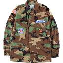 99年納品 米軍実品 CIVIL AIR PATROL ウッドランドカモ 迷彩 B.D.U ミリタリーシャツ USA製 MEDIUM-REGULAR メンズL /…