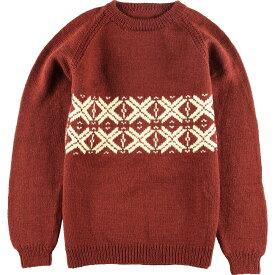 パターン柄ウールニットセーター