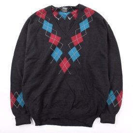 PING Vネックラムウールニットセーター