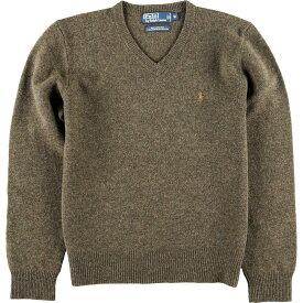 Ralph Lauren Vネックラムウールニットセーター