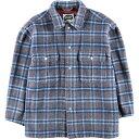 SYN JEAN チェック柄 ウールシャツジャケット メンズL /wca003140 【中古】 【200110】