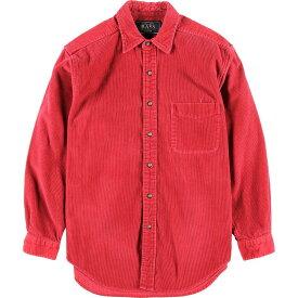 BASS 長袖 コーデュロイシャツ メンズS /wca003805 【中古】 【200111】【PD2003】【SS2007】【CS2007】【SS2009】