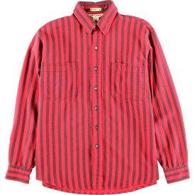 80年代 ビッグマック BIG MAC ST JOHN'S BAY ストライプ柄 長袖 ライトネルシャツ USA製 メンズL ヴィンテージ /wca003954 【中古】 【200111】【PD2003】【SS2007】【CS2007】【SS2009】