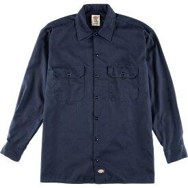 ディッキーズ Dickies FLEX 長袖 ワークシャツ メンズM /wca003134 【中古】 【200111】【PD2003】【SS2007】【CS2007】【SS2009】
