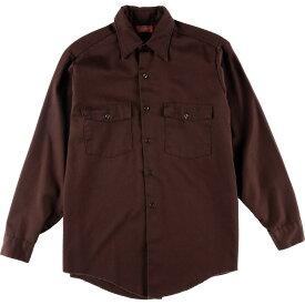 60~70年代 ディッキーズ Dickies 長袖 ワークシャツ メンズM ヴィンテージ /wca003136 【中古】 【200111】【PD203-3】【SS2007】【CS2007】【SS2009】