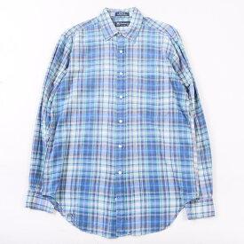 バーバリー Burberry's 長袖 コットンチェックシャツ USA製 メンズL /wca003572 【中古】 【200112】