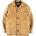 80年代 エルエルビーン L.L.Bean コーデュロイ襟 カウハイド スエードレザーハンティングジャケット 36 メンズS ヴィンテージ /wbj4502…