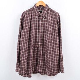 バーバリー Burberry's LONDON 長袖 ボタンダウンチェックシャツ USA製 メンズXL /eaa003819 【中古】 【200131】