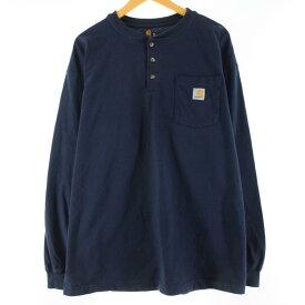 カーハート Carhartt ヘンリーネック ポケット ロングTシャツ ロンT メンズXL /wbj4416 【中古】 【200215】