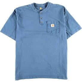 カーハート Carhartt ヘンリーネック ワンポイントロゴポケットTシャツ メンズXL /eaa010246 【中古】 【200301】