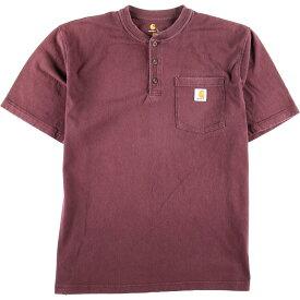 カーハート Carhartt ヘンリーネック ワンポイントロゴポケットTシャツ メンズL /eaa010705 【中古】 【200301】