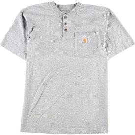 カーハート Carhartt ヘンリーネック ワンポイントロゴポケットTシャツ メンズM /eaa010776 【中古】 【200301】