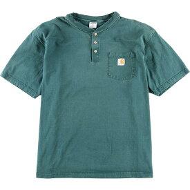 カーハート Carhartt ワンポイントロゴポケットTシャツ メンズ2XL /eaa010721 【中古】 【200302】