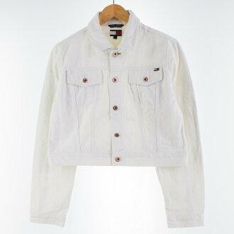 トミーヒルフィガー TOMMY HILFIGER JEANS denim jacket G Jean Lady's L /wbj0247