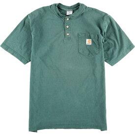 カーハート Carhartt ヘンリーネック ワンポイントロゴポケットTシャツ メンズM /eaa012720 【中古】 【200306】