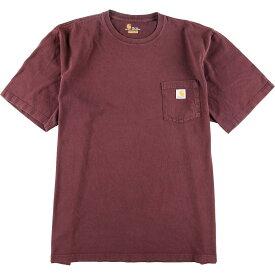 カーハート Carhartt ワンポイントロゴポケットTシャツ メンズ3XL /eaa012702 【中古】 【200309】