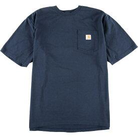 カーハート Carhartt ワンポイントロゴポケットTシャツ メンズXL /eaa012726 【中古】 【200309】